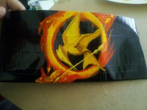 And it has the painted flaming Mockingjay in the inside. Couldn't do one with my bare hands if my life depended on it.