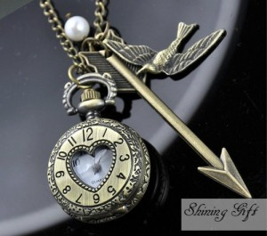 I'm sure Peeta's locket didn't have a clock. Still, this is rather well made.