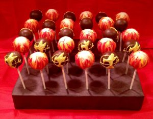 Some of these have the Mockingjay while some have flames. But the flame ones look like ignited ping pong balls.