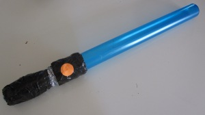 With a plastic tube and some duck tape, lightsaber duels will now have bubbles. And no one loses a limb.