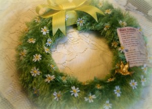 Now this is a lovely wreath. But how Rue died is just so sad, especially how Katniss covered her in flowers.