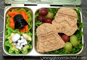 Now this includes a Darth Vader and Stormtrooper sandwich. Of course, I wouldn't recommend it to people who have to aim for targets. They won't hit anything.