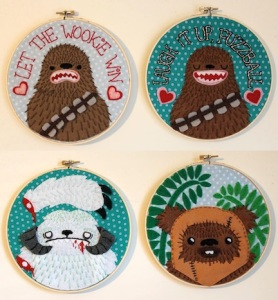 Now these consist of 2 for Chewbacca as well as one for a maimed Wampa and another for an Ewok. Nevertheless, these are clever and adorable if I say so.