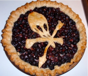 Yeah, I know this is a blueberry pie. But still, nightlock is deadly poisonous that Katniss and Peeta threatened to kill themselves with it. Think about it.