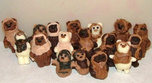 Yes, they look like teddy bear chocolates with hoods on them. But you have to admit they're so adorable.