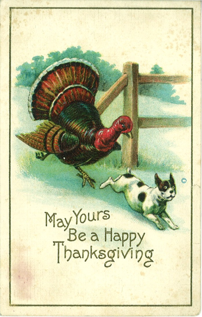 Happy Thanksgiving Greetings From Yesteryear