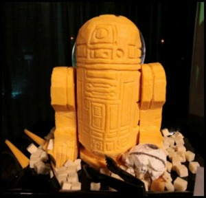 Never before has R2-D2 ever looked so cheesy. And I mean that in a literal context.