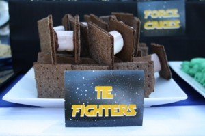 Now these are about the same for the Imperial fighter graham cracker and marshmallow treats. Except that they use chocolate grahams and nutella.