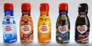 Now these seem to consist of R2-D2 French Vanilla, Chewbacca Spiced Latte, C-3PO Hazelnut, Boba Fett Italian Creme, and Darth Vader Espresso Chocolate. Yeah, I don't think
