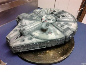 Man this almost looks like the real thing. Thus, it is the perfect birthday cake for Han Solo.