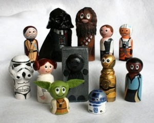 Can't believe they included Han Solo in carbonite. Still, these figures are quite adorable if you ask me.