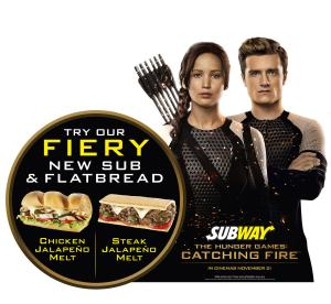 Of course, this is no longer available but I had to put in. I mean The Hunger Games revolves around post-apocalyptic starvation.  Maybe they should've went with hoagies containing meat from squirrels, rabbits, or rats on burned or stale bread. That would've been more appropriate.