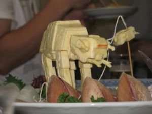 Well, it's a sushi garnish. But still, it looks like it was created by a repressed art major who happens to be a major Star Wars geek.