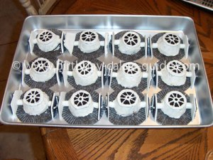 And yes, they look like Imperial fighters that will destroy you if you try to blow up the Death Star. But since the creator didn't have silver icing, they're white.