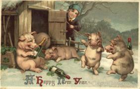 A Happy New Year - Drinking Pigs