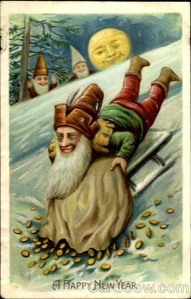 Strange and Creepy New Year's Postcards from ca. 1900s-1910s (22)