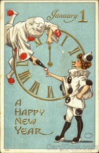 Strange and Creepy New Year's Postcards from ca. 1900s-1910s (26)
