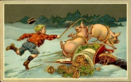 Strange and Creepy New Year's Postcards from ca. 1900s-1910s (28)