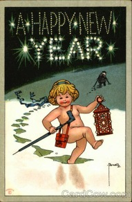 Strange and Creepy New Year's Postcards from ca. 1900s-1910s (3)
