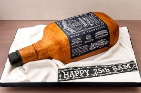 Jack Daniels for a 25th birthday cake surprise