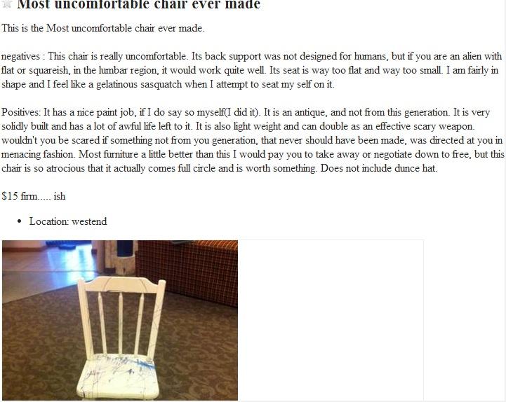 craigslist-uncomfortable-chair