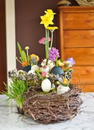 Not sure how people managed to put the flowers in eggshells. Because they're very delicate things and break very easily.