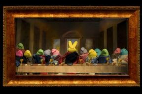 Yes, I did the Last Supper before. But that wasn't a rendition of Da Vinci's painting. Still, this is brilliant.