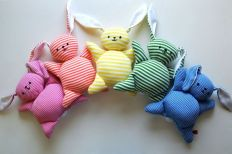 I'm sure these would make great Easter toys whether for a small child or a dog. Depending on whether it has a squeaker.