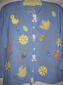 And this has bunnies at the crease as well as chicks with feathers on them. And some that don't.