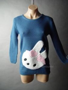 Sure those may not look like bows. But I'm sure this sweater is bound to be Easter appropriate in its own way.