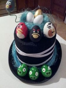As I'm aware, Angry Birds seems to be a popular motif for Easter bonnets. This is especially pertaining to boys.