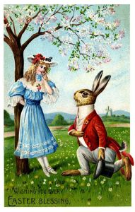 Yes, the forbidden love affair between Rosalie and her mutant bunnyman was one of utter devotion, passion, and garden vegetables. Luckily he was a snappy dresser.