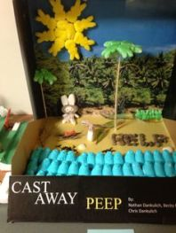 This is a peep version of Castaway. Never saw the movie, but I think many of my readers might enjoy this.