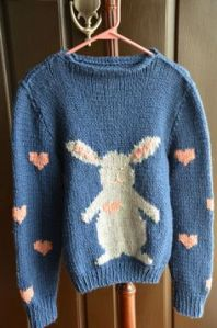 I'm sure someone is bound to love this rabbit sweater. Well, unless they don't like hearts either.