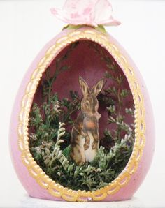 I've probably shown you a lot of bunnies in eggs so far for Easter. Still, I think this one gives you a more naturalistic feel if you ask me.