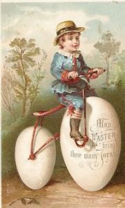 I don't think an egg bike is a good idea. For one, eggs aren't circular. Second, they're easy to break.