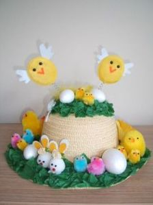 As long as the eggs are fake. Even hard boiled ones have the potential to make a mess. Still, love the flying chicks on this.