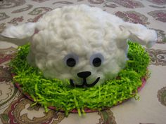 I know that sheep aren't as popular Easter motifs as bunnies or chicks. But you have to admit, this is pretty cute.