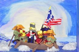 Yes, I might have done Washington Crossing the Delaware in my first peep diorama post. But this one is more in tune with the painting.