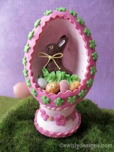 Let alone be it a pink egg. Still, I'm sure it would fit quite well on your Easter mantle.