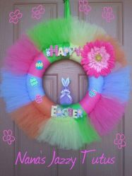 Like a lot of craft projects I've shown, this one was made by a business. Still, I do think it's very cute and brightens any front door.