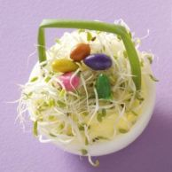 Yes, it's a deviled egg Easter basket. Not sure what those egg things are supposed to be though.
