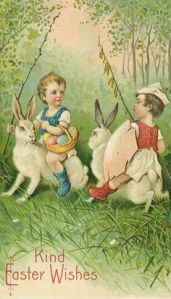 And it seems like these two are about to clash because someone wants an Easter basket. Also, this is just plain freaky.
