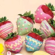These are decorated like colored eggs. And while they aren't ovals, they might do.