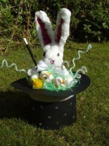 I have to admit this is a pretty clever idea. Like the bunny with a magic wand.