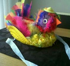 I know this was created by a child. But it does look quite adorable. Like the chick's hat, too.