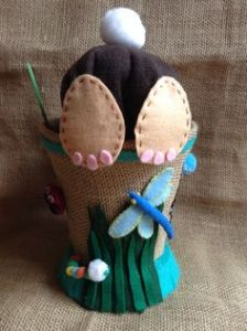 According to Pinterest, this is supposed to be a boy's Easter bonnet idea. And it includes insects to boot.