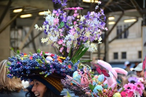 Yes, I know these flowers are fake and make the hat seem ridiculous. But they sure are pretty.
