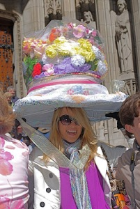 Still, her hat seems incredibly big that you wonder how she could wear it like that. Love the flowers though.