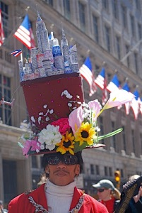 Guess there's an Easter bonnet so people will remember that. Also has flowers for good measure.